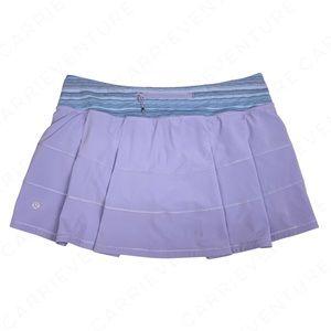 Lululemon Pace Rival II Lilac Twist Skirt Skort 10